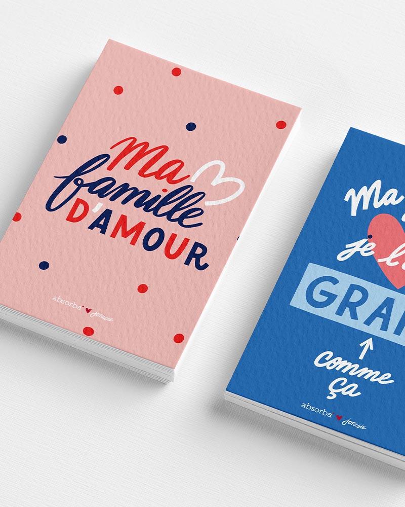 Brand content illustration typography Paris